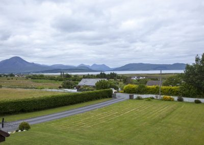 View from the bedroom of Broadford Bay and the Cuillin Hills